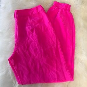 Lilly Pulitzer pop pink solstice pant 100% silk